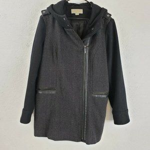 Michael Michael Kors Womens Gray Button Cuff Sleev